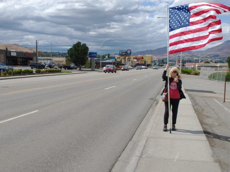Debbi on Flag Day